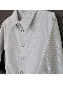 Pilki languoti marškiniai-smėlinukas