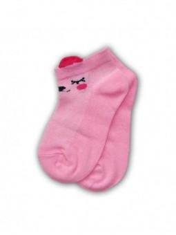 Rožinės trumpos kojinės