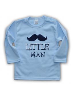 Melsvi marškinėliai LITTLE MAN