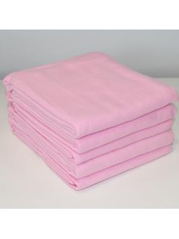 Rožinis flanelinis vystyklas