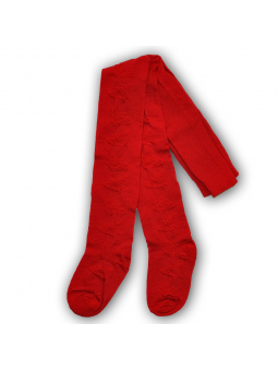 Raudonos ažūrinės pėdkelnės