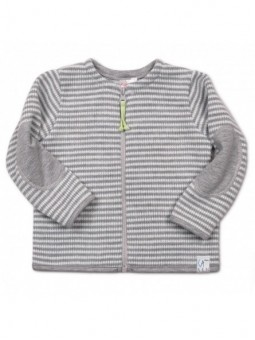 Pilkas dryžuotas megztinukas