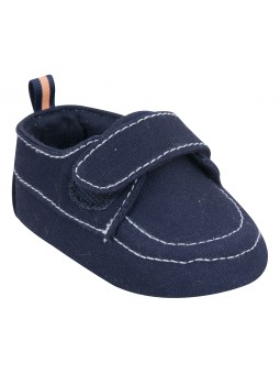 Navy blue baby boy shoes