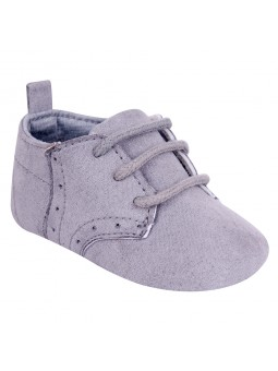 Grey baby boy shoes