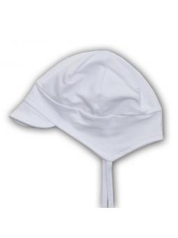 Balta trikotažinė kepurė