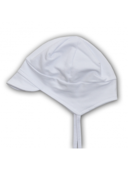 White cotton baby cap