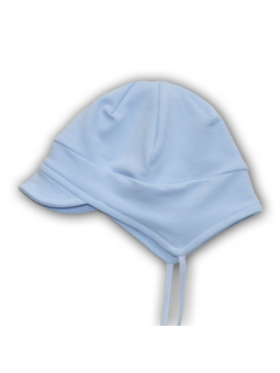 Blue cotton baby cap