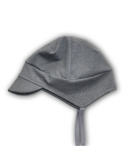 Grey cotton baby cap