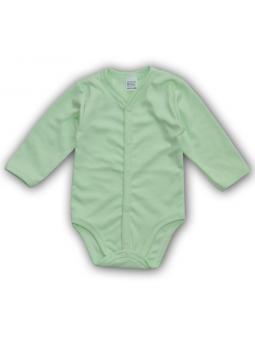 Green fasten baby bodysuite