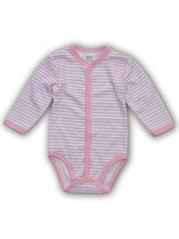 Pink fasten baby bodysuite