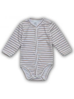 Beige fasten baby bodysuite