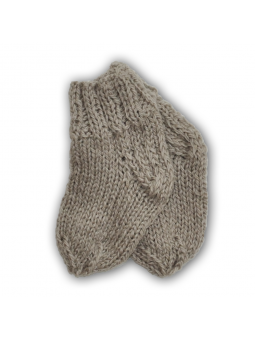Pilkos vilnonės kojinės
