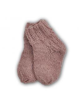 Rausvos vilnonės kojinės