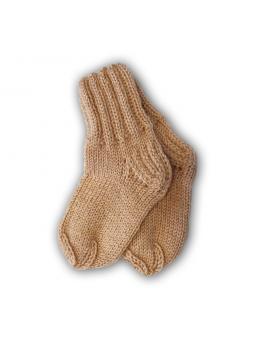 Rusvos vilnonės kojinės