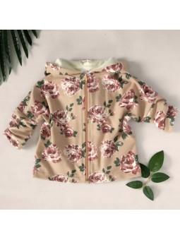 Flowered hoodie