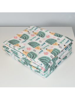 Flannel diaper HEDGEHOG
