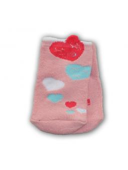 Cotton terry baby girls socks