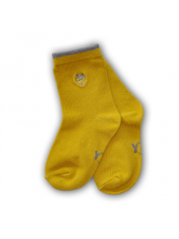 Garstyčių spalvos kojinės