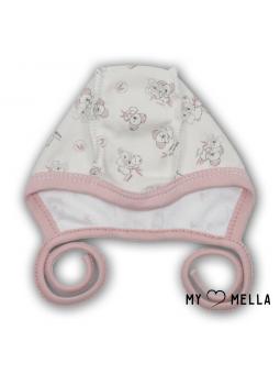 Newborn cap KOALA powder pink
