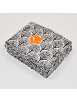 Flannel diaper FOX graphite