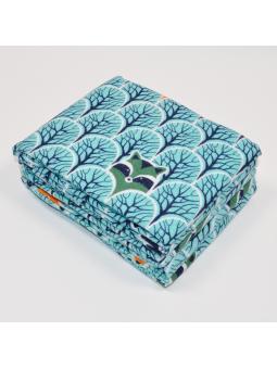 Flannel diaper FOX green