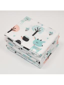 Flannel diaper BAMBI white