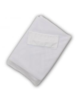 Tiulio užuolaida lovytei balta