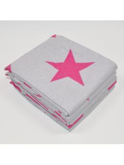 Flannel diaper STARS grey pink