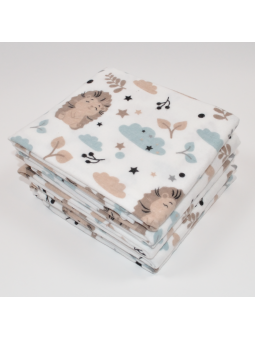 Flannel diaper HEDGEHOG beige