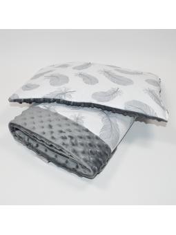 Minky antklodėlė ir pagalvė...