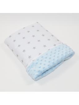 Baby blanket STARS sky blue