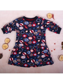 Girls colourful dress navy...