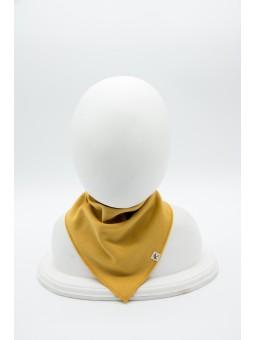 Merino wool baby scarf mustard