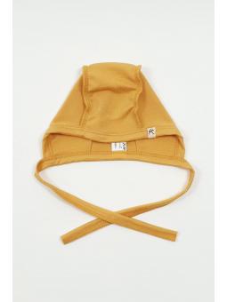 Merino wool baby cap mustard