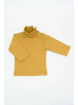 Merino wool turtleneck mustard