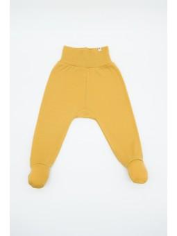 Merino wool baby pants mustard