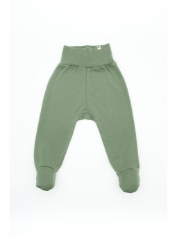 Merino wool baby pants olive
