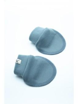 Merino wool baby gloves blue