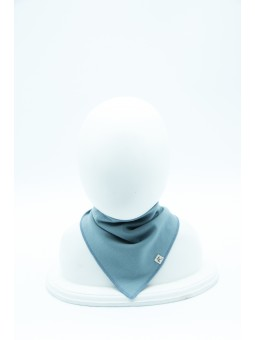 Merino wool baby scarf blue