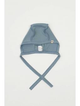 Merino wool baby cap blue