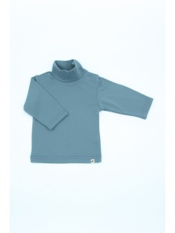 Merino wool turtleneck blue