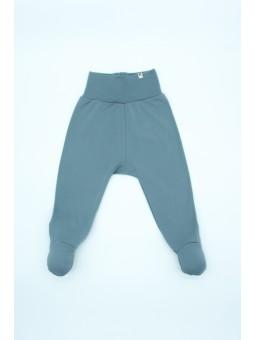 Merino wool baby pants blue