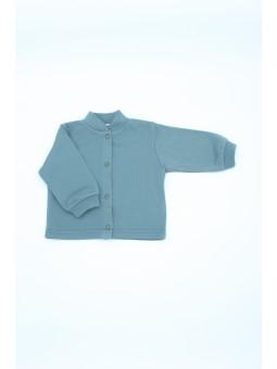 Merino wool baby t shirts blue