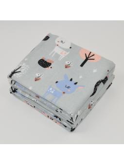 Flannel diaper BAMBI grey