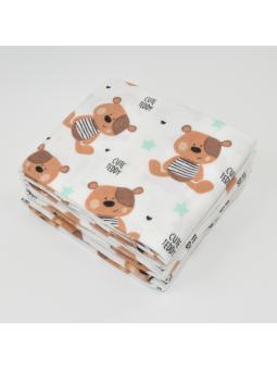 Flannel diaper CUTE TEDDY...