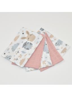 Muslin diapers mini pink...