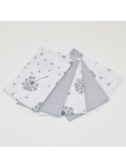 Muslin diapers mini grey...