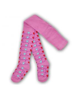 Girls cotton tights LOVE pink