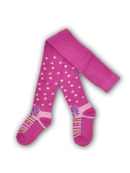 Girls cotton tights HEARTS...