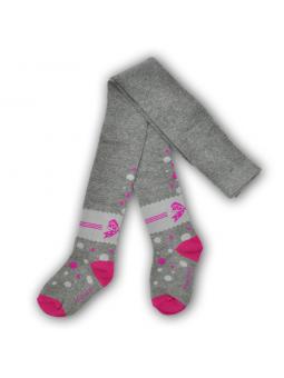 Girls cotton tights DOTS grey